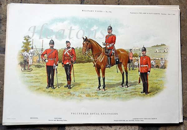 ARMY Belgian /& British Cavalry Artillery Engineers 1844 Antique Print Engraving